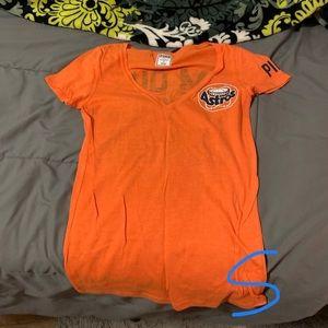 Victoria's Secret PINK Orange Houston Astros Shirt